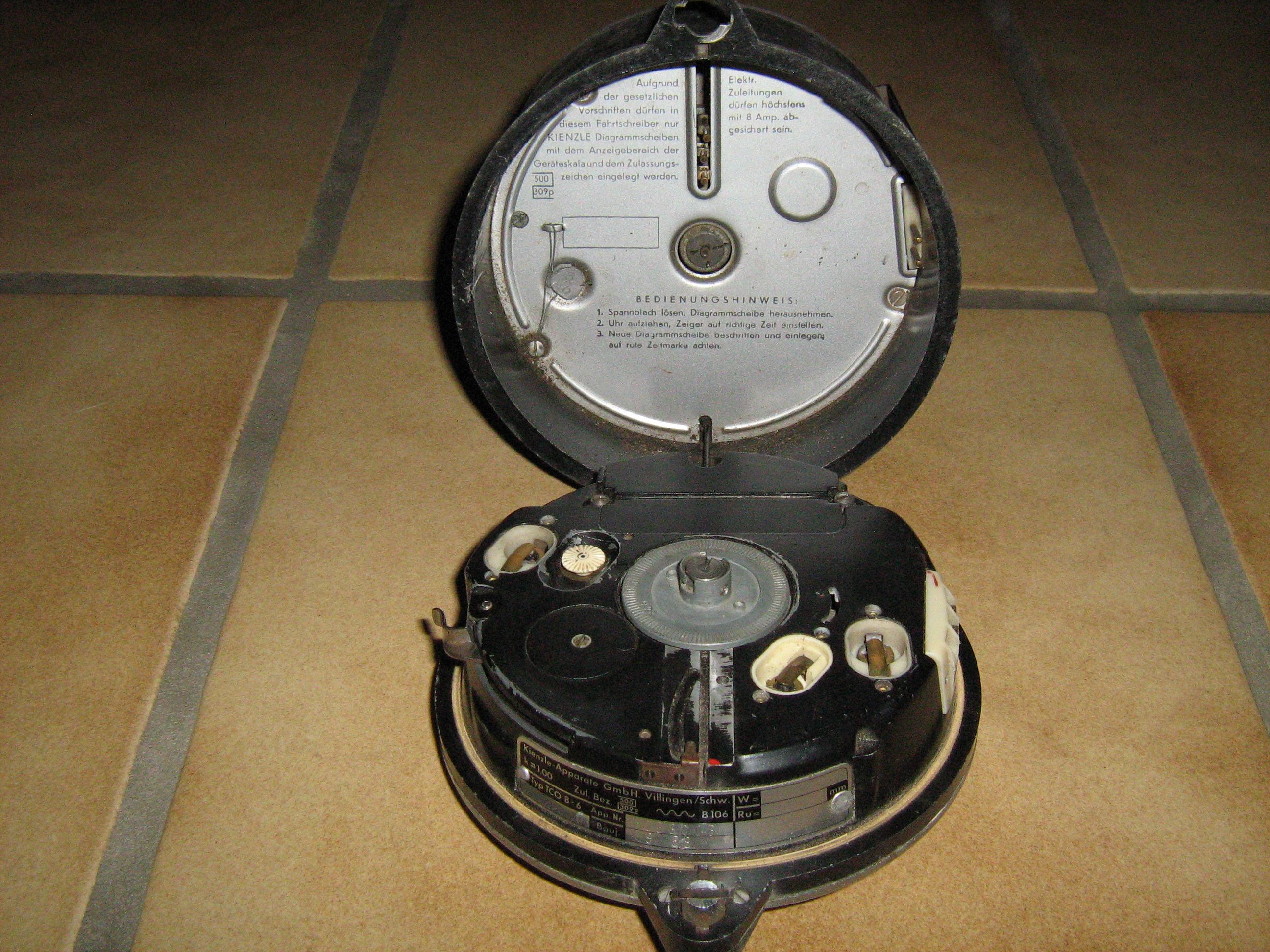 Análisis disco de tacógrafo